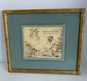 18TH - EARLY 19TH CENTURY OLD MASTER SIGNED DRAWING BEAUTIFULLY FRAMED SIGNED