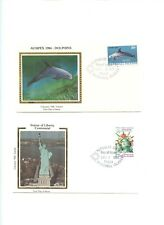 Marshall Islands FDC Colorano Ausipex 84 Dolphin  + Statue of Liberty 36-2