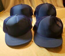 Blue lot of 4 Mesh Trucker Hat with Cord Snapback Youth Luna Basics Baseball