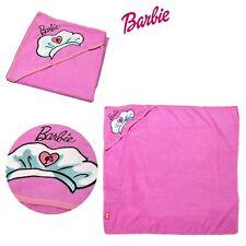 Licensed Barbie Embroidered Microfiber Hooded Towel 90 x 90 cm