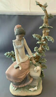 Lladro Black Legacy Harmony Girl With Doves Figurine 5159.Rare.