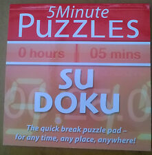 5 Minute Puzzles: Su Doku by Holland Publishing PLC (Paperback, 2011)