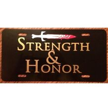 The Gladiator Car Tag Strength and Honor License Plate