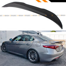 FOR 2017-19 ALFA ROMEO GIULIA HIGHKICK DUCKBILL CARBON FIBER TRUNK SPOILER WING