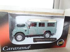 "Cararama CR038 1/43 O Scale Land Rover III 109"" Sage Green Cream Roof"