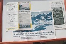 23458 Reise Prospekt Sonthofen Oberallgäu 1934 mit Beilagen, tolle Ansichten
