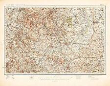 MAP ANTIQUE 1902 OS UK DERBYSHIRE RUTLAND LEICESTER REPLICA POSTER PRINT PAM0399
