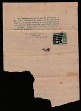 1895 NEWSPAPER WRAPPER QUEEN VICTORIA 1/2d QUEENSLAND PRE-DECIMAL STAMP #L18