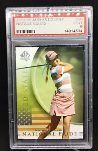 2004 Upper Deck SP Authentic Golf Natalie Gulbis National Pride PSA 9