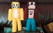LEE BEAR ans STAMPY CAT Minecraft handcrafted soft fleece plush11 inch