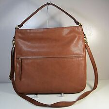 NWT FOSSIL COREY BROWN LEATHER SHOULDER BAG CONVERTIBLE HOBO PURSE ZB6947200