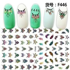 Nail Art Stickers Transfers Ornate Necklaces (F446)