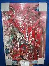 "Original Lenardo ""Len"" Aaron Abstract Painting on Canvas Signed"