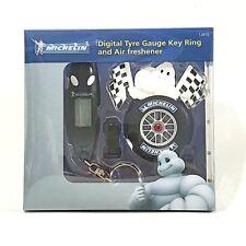 MICHELIN MAN MASCOT Digital Tyre Gauge Key Ring + Air Freshener