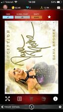 Topps Wwe Slam Dana Brooke 25cc Gold Inception Sig