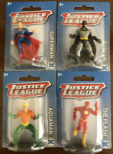 Justice League DC Miniture Figure Lot of (4) Set Unopened 2018-Free Shipping !