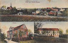 AK Nieder-Rossau Schule Gasthof Wwe. Wolf Ortsansicht Postkarte gel. 1911
