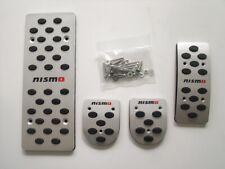 Car Pedals, Aluminum Auto Footrest Fuel Brake Sets For Nissan Nismo MT