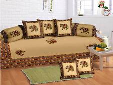Indian 100 % Cotton Sofa Diwan Set Diwan Cover Cushion Covers Bolster Covers