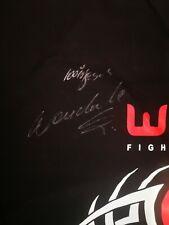 """Pride and UFC legend Wanderlei """"The Axe Murderer"""" silva signed T shirt"""