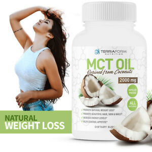 PURE MCT OIL - All Natural, From Coconuts, Weight Loss for YOU -2000mg - 60 CAPS