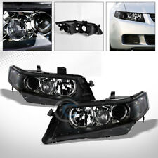 BLK HOUSING PROJECTOR HEAD LIGHTS CORNER SIGNAL LAMPS NB 2004-2008 ACURA TSX CL9
