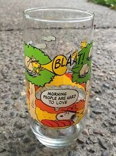 """1965 McDonald's Camp Snoopy Glass """"Morning People are Hard to Love"""""""