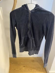 Juicy Couture  Reißverschluss Kapuze Sweater-Juicy S Blau
