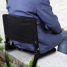 Portable Bleacher Seat Folding Stadium Chair Back Bum Cushion Padded with Hook