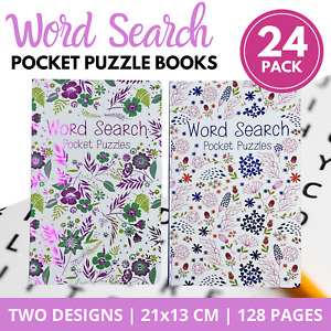 24 x WORD SEARCH PUZZLE BOOKS for ADULTS Pocket Size Brain Games Find-a-Word