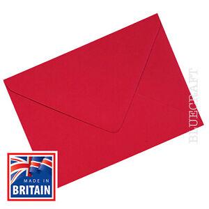 C6 A6 Christmas Card Red Premium Xmas Envelopes - 114 x 162mm - 6 x 4 inches