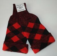 RED & BLACK DICED SCOTTISH TARTAN HOSE TOPS - Size:0 , British Army NEW