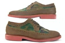 Polo Torngtn W Nt Wingtips Suede Brown & Camouflage Shoe Size 9 D