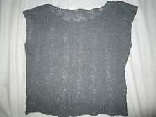 Love on a hanger brand size S small womens gray grey knit sweater vest acrylic