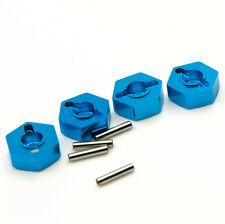 4Pcs Alu.12mm Wheel Hex Drive Adaptor W/ Pins & Screws 5mm fr Hexagon HSP car