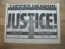 TOPPER HEADON - THE CLASH - 1985 - ORIGINAL MUSIC PRESS ADVERT 29 X 21 cm