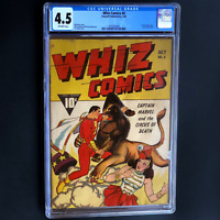 WHIZ COMICS #6 (1940) 💥 CGC 4.5 OW 💥 SCARCE! Captain Marvel CVR! Fawcett Pub.