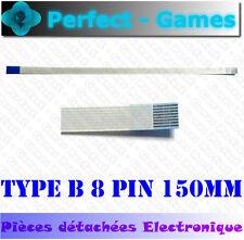 Nappe ruban flat cable flex ribbon FFC reverse type B 8 pin 150mm 0.5 pitch