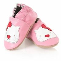 BABY GIRL BOY LEATHER SHOES. PINK, BLUE, WHITE. 12 DESIGNS 4 SIZES AGE 0-2