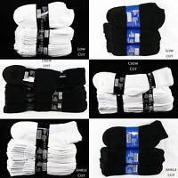 4 12 Men Women Socks  Lot 9-11,10-13 Athletic Sports Crew Ankle No show Socks
