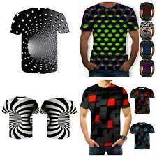 Funny Hypnosis 3D T-Shirt Men Women Colorful Print Casual Short Sleeve Tee -UK