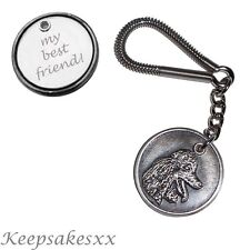 KEYRING Poodle - Dog Tag UK Disc Key Chain incls Personalised Engraving