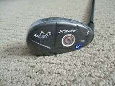 NEW! LH CALLAWAY APEX 20* #3 HYBRID KURO KAGE BLACK REGULAR FLEX + HEAD COVER