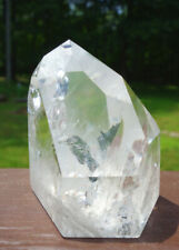 Polished Lemurian Quartz Channeling Crystal w Rainbows & Timeline