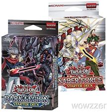Yugioh Dark Legion & Saber Force 1st Edition Factory Sealed Starter Set of 2 !
