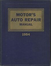 MOTOR'S AUTO REPAIR MANUAL 1954 17THEDITION HC