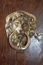 Classic regency style petit brass lions tête bélier heurtoir Z4