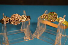 Lot of 2  Crowns & Hearts NOOSA CHARM BRACELETS  New!  Jewelry  USA SELLER chunk
