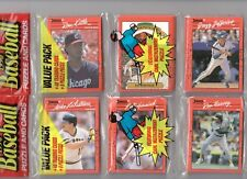 Two1990 DONRUSS Baseball Rack Packs w/ ED WHITSON on the top (96) Cards