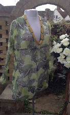NEXT 10 Beach Cover UP Floaty Cruise Holiday Lime Brown camping caravan motorhom